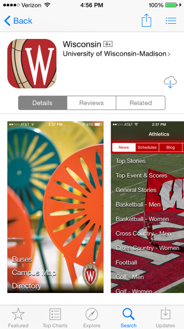 Wisconsin App (iPhone/iPad/iPod Touch) - Installing the app on an ...