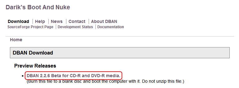 Securely erasing a hard drive