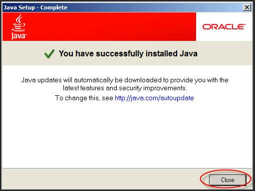 Installing Java Runtime Environment Updates