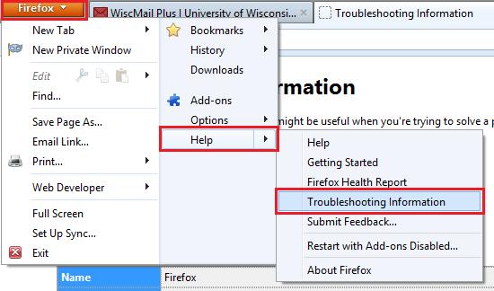 Firefox (Win) - Restoring the Default Settings