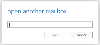 open another mailbox screen