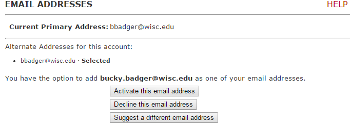 Email addresses location where you can reserve or change your firstname.lastname@wisc.edu address.