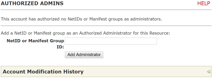 Add authorized administrator(s)