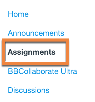 Click the Canvas Assignments tool
