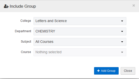 Leave the Subject and Course fields blank