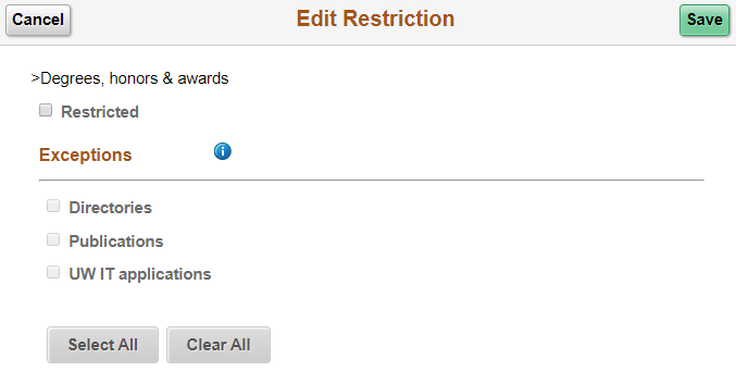 Edit restrictions