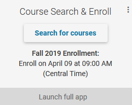 Course Search & Enroll tile