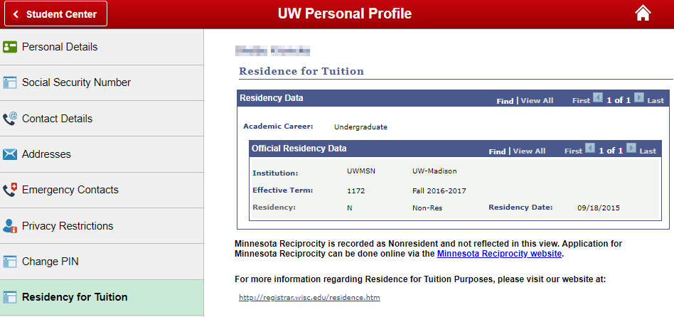 Residency for Tuition