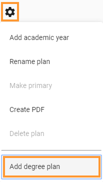 Add plan from drop down