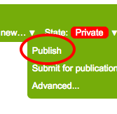 State change from private to publish