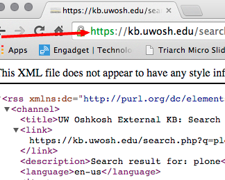 KB XML URL