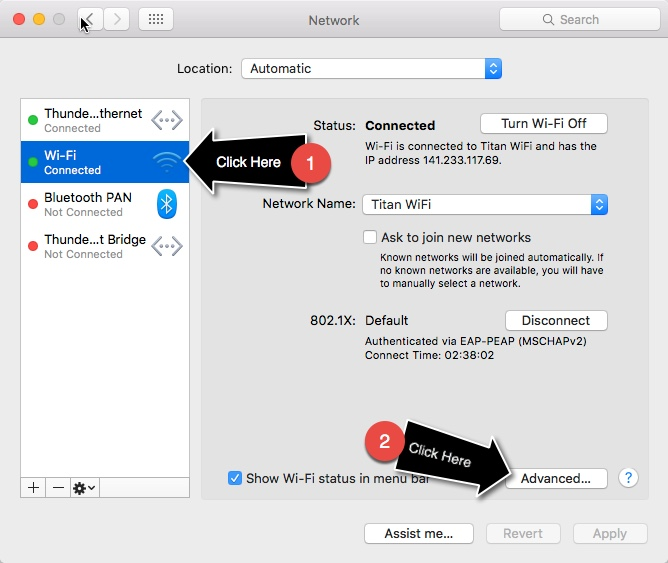 Wifi Mac Advanced