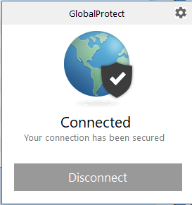 GlobalProtect disconnect button