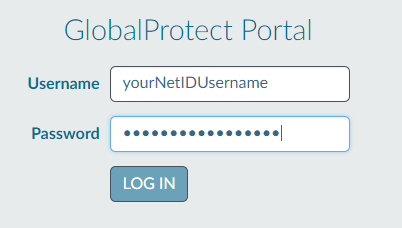 Enter your netID user name and password where prompted
