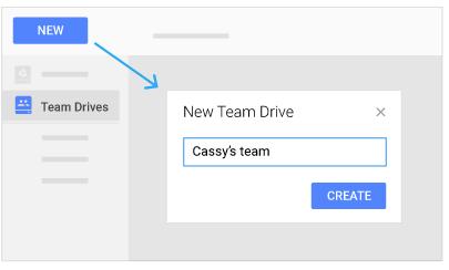 create a team drive