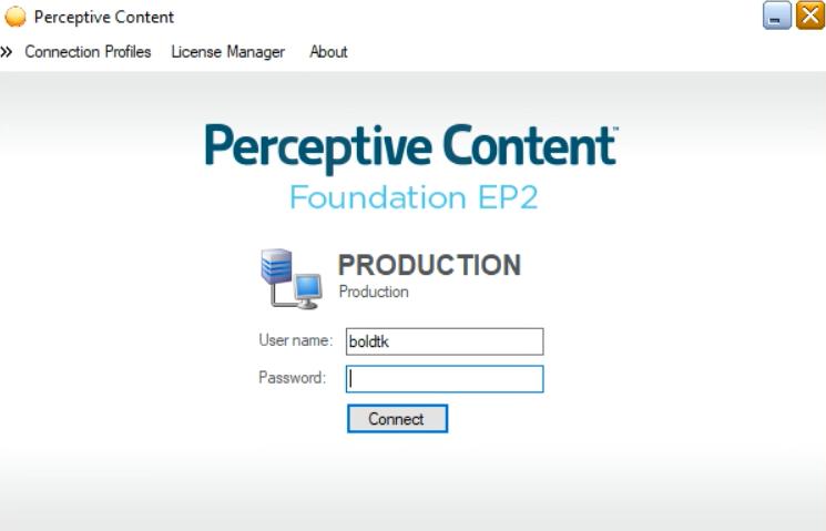 PerceptiveContentLoginScreen