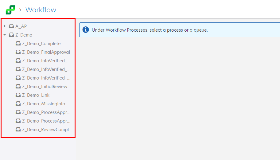 Perceptive Experience Workflow Queues