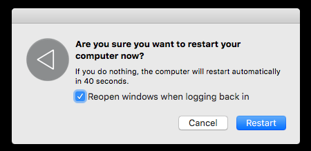 Mac Prompt to Restart Computer