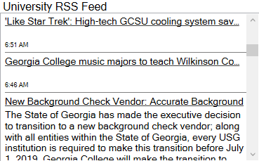 Example of a Cherwell RSS Feed