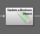 Image of the Update a Business Object Step in the Cherwell Editor