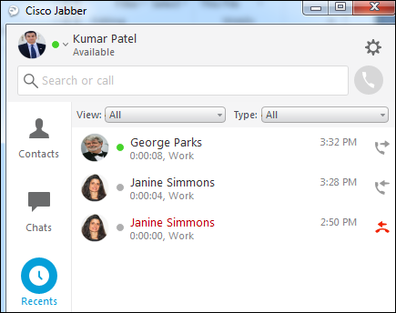 Cisco VoIP - Viewing call history in Jabber (Windows/Mac)