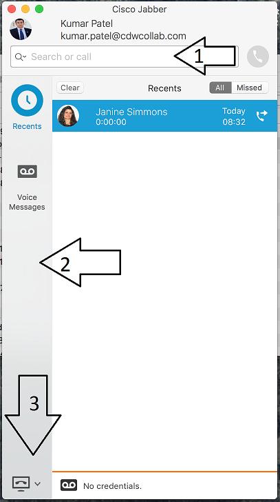 Cisco VoIP - Jabber Client Navigation (Mac)