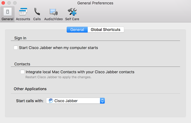 Cisco VoIP - Jabber Client Navigation (Mac)