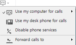 Windows computer phone toggle menu