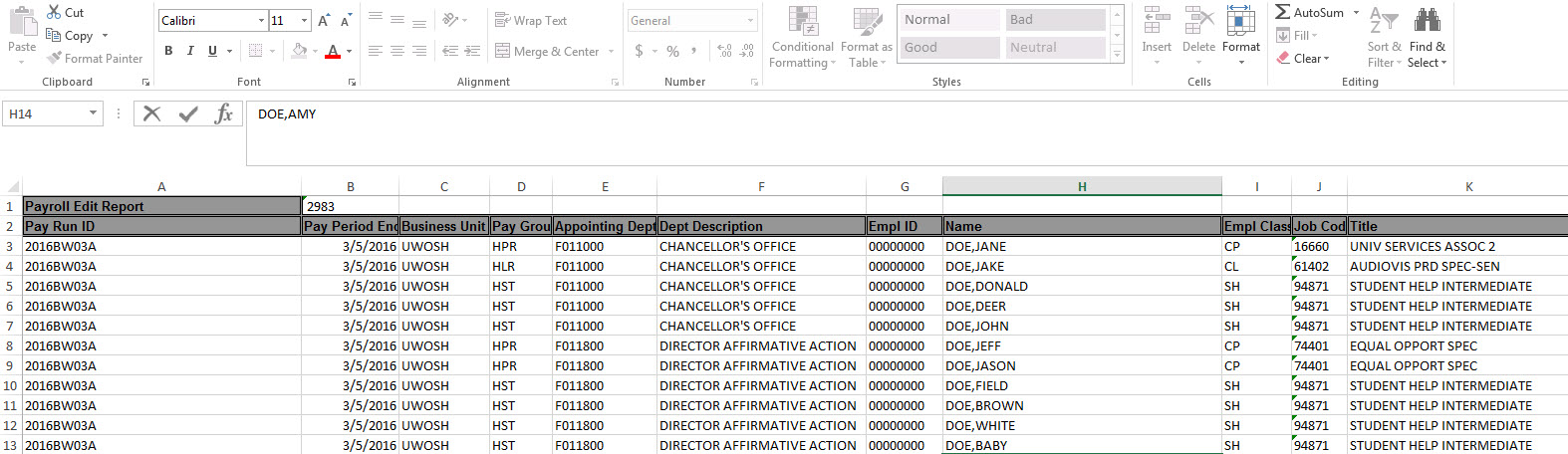 9.2 payroll edit report excel