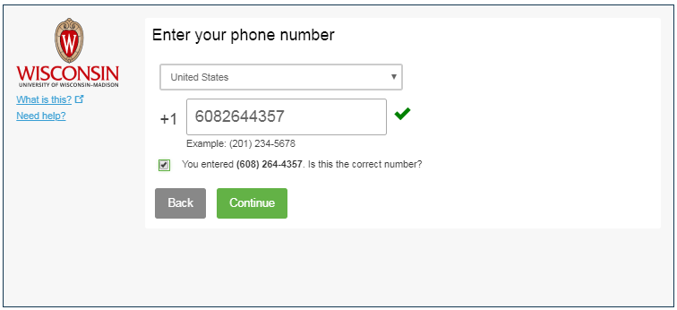 Prompt for phone number in the available field