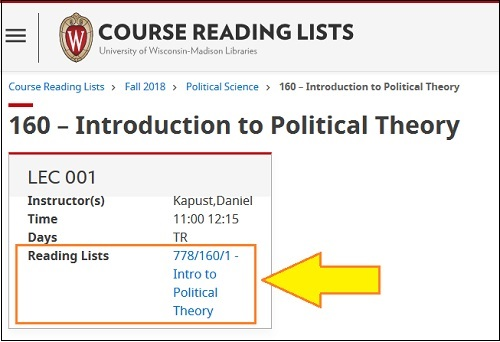 Course with Reading List