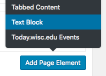 Add a text block to the page