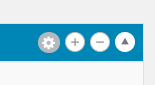 Settings icon for content layouts