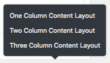Content layout options