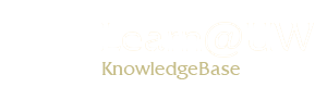 Learn@UW Utility Knowledgebase